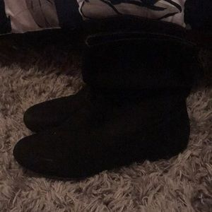 Black boots Slightly used
